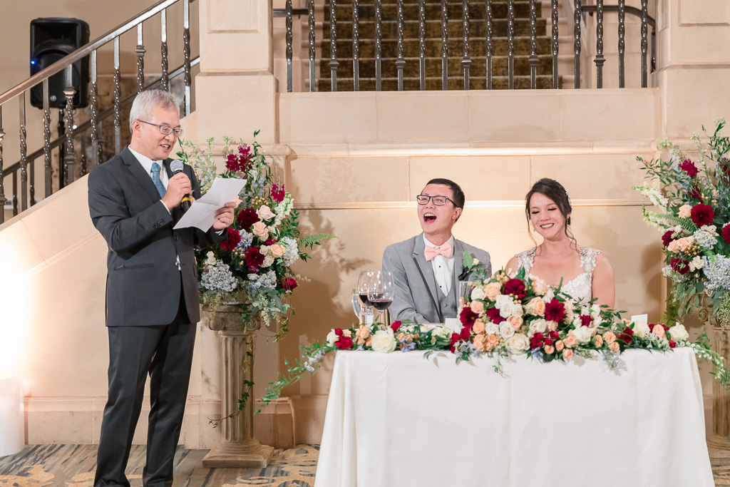 father of the bride made a hilarious toast