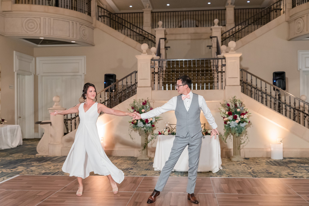 an awesome first dance performed by the bride and groom