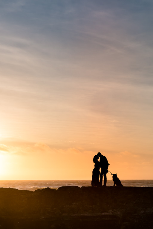 San Francisco engagement photos with a cute puppy
