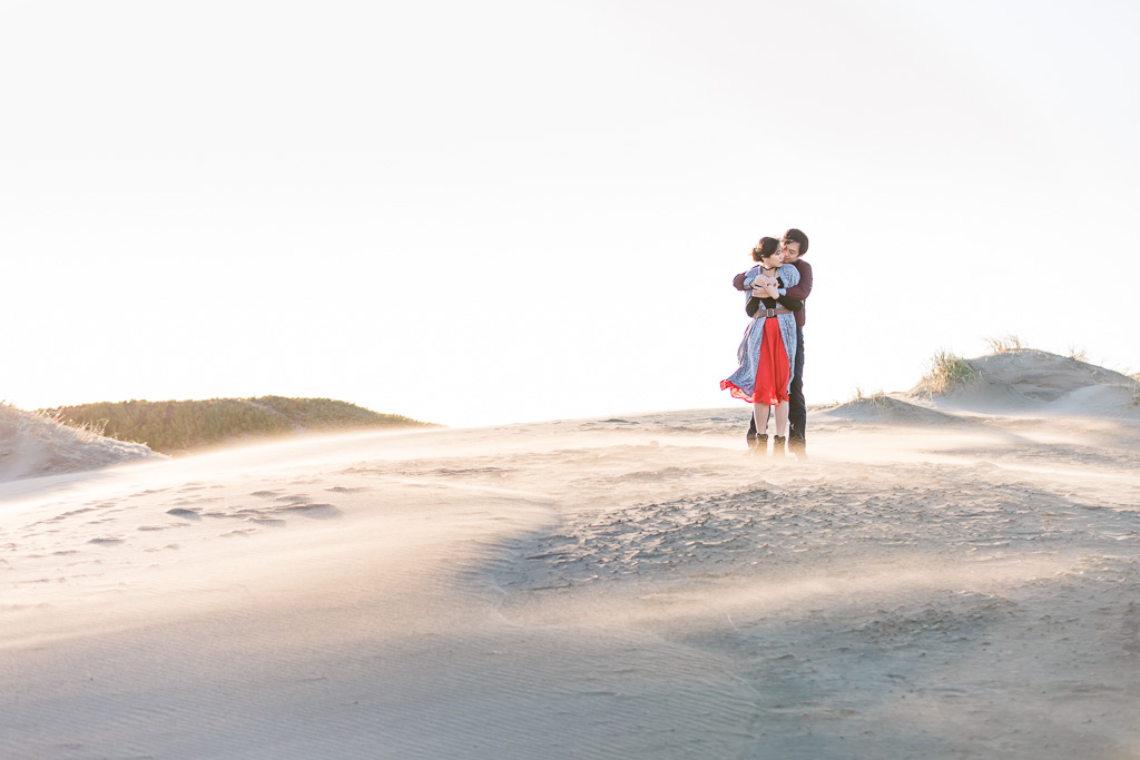 dreamy San Francisco Ocean Beach engagement photo