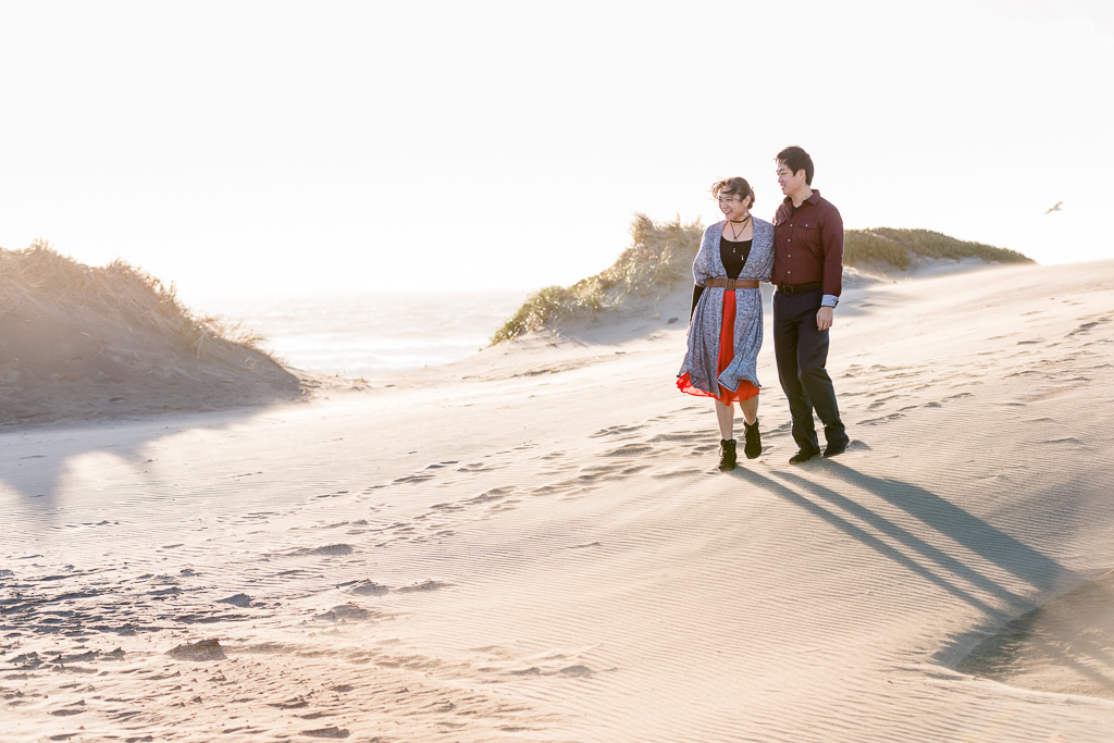 San Francisco sand dune engagement photo