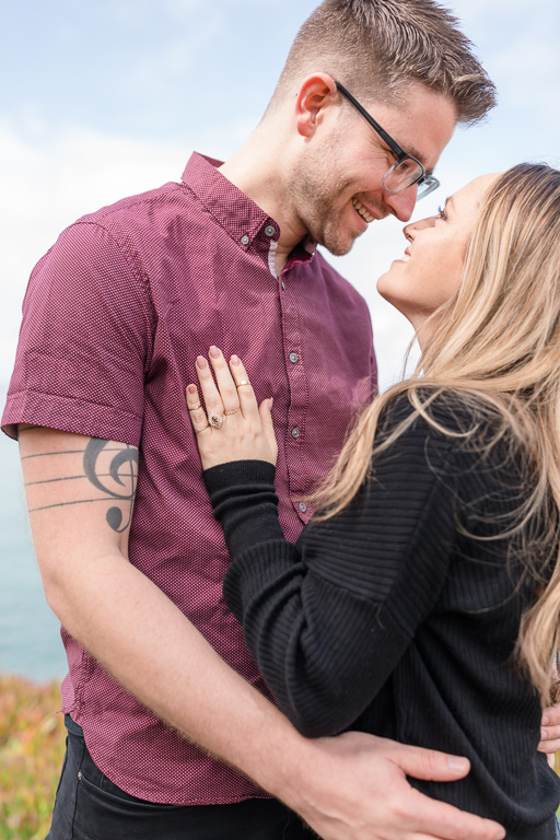 save-the-date photo that showcases the gorgeous designer engagement ring