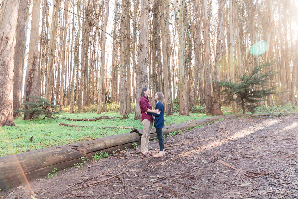 San Francisco forest surprise marriage proposal