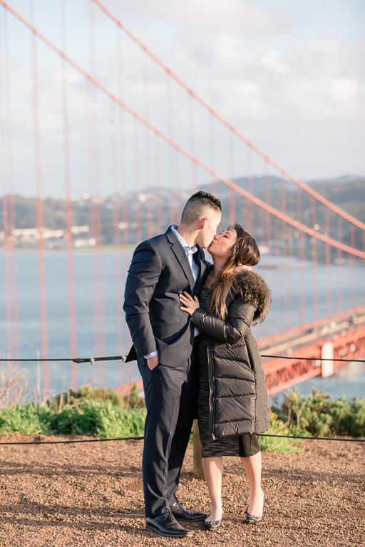 couple got engaged at Battery Spencer
