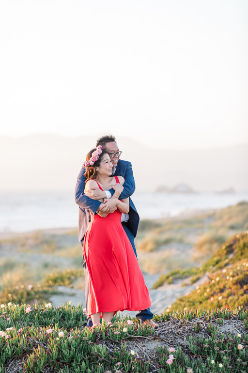 the prettiest beach in San Francisco for engagement photos