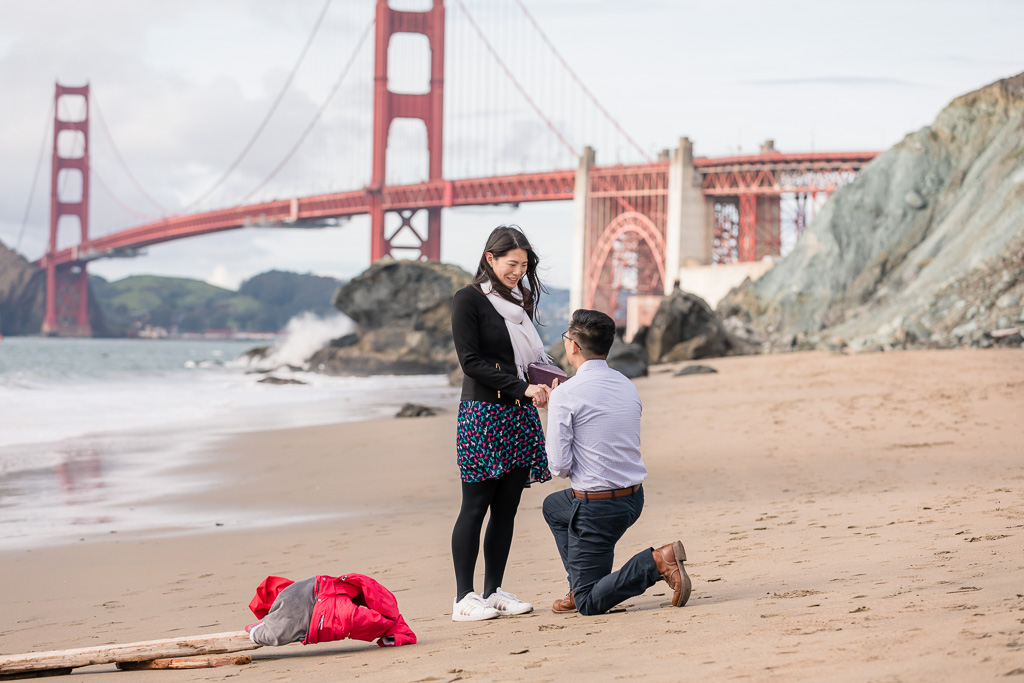 Marshall's Beach surprise marriage proposal