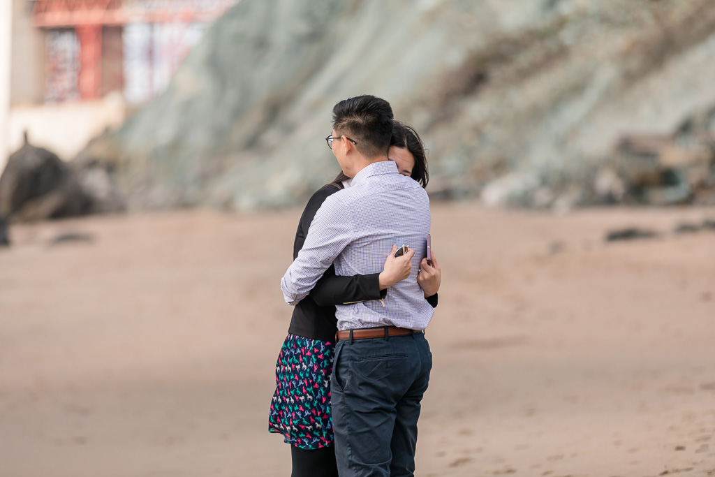 couple got engaged in San Francisco