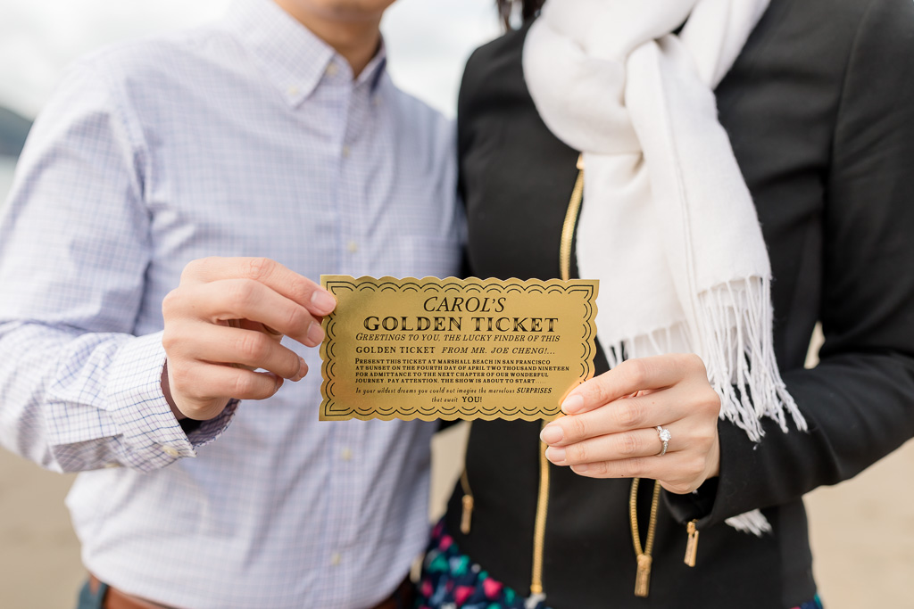 customized proposal gift a golden ticket