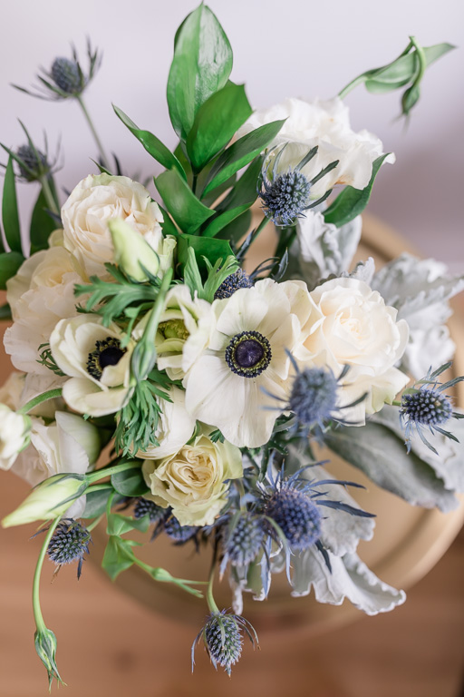 muted color bridal bouquet