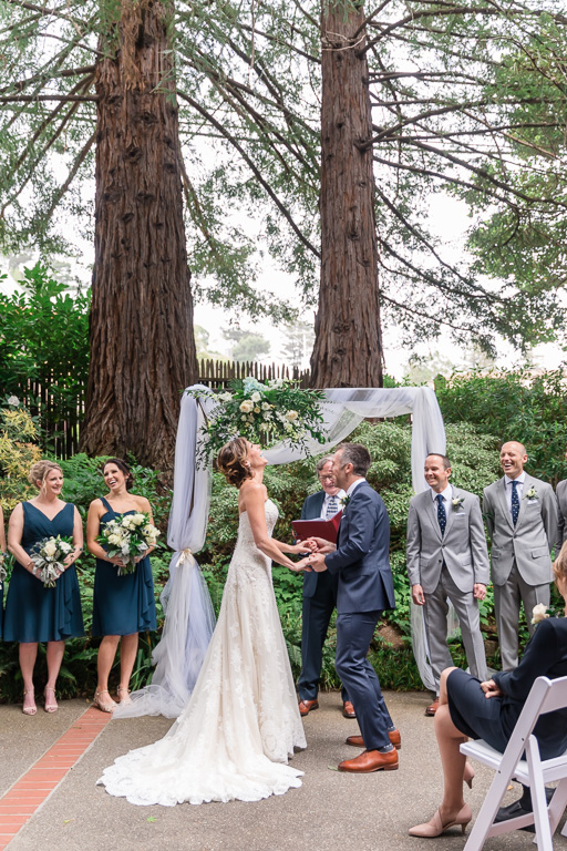 Mill Valley outdoor wedding ceremony