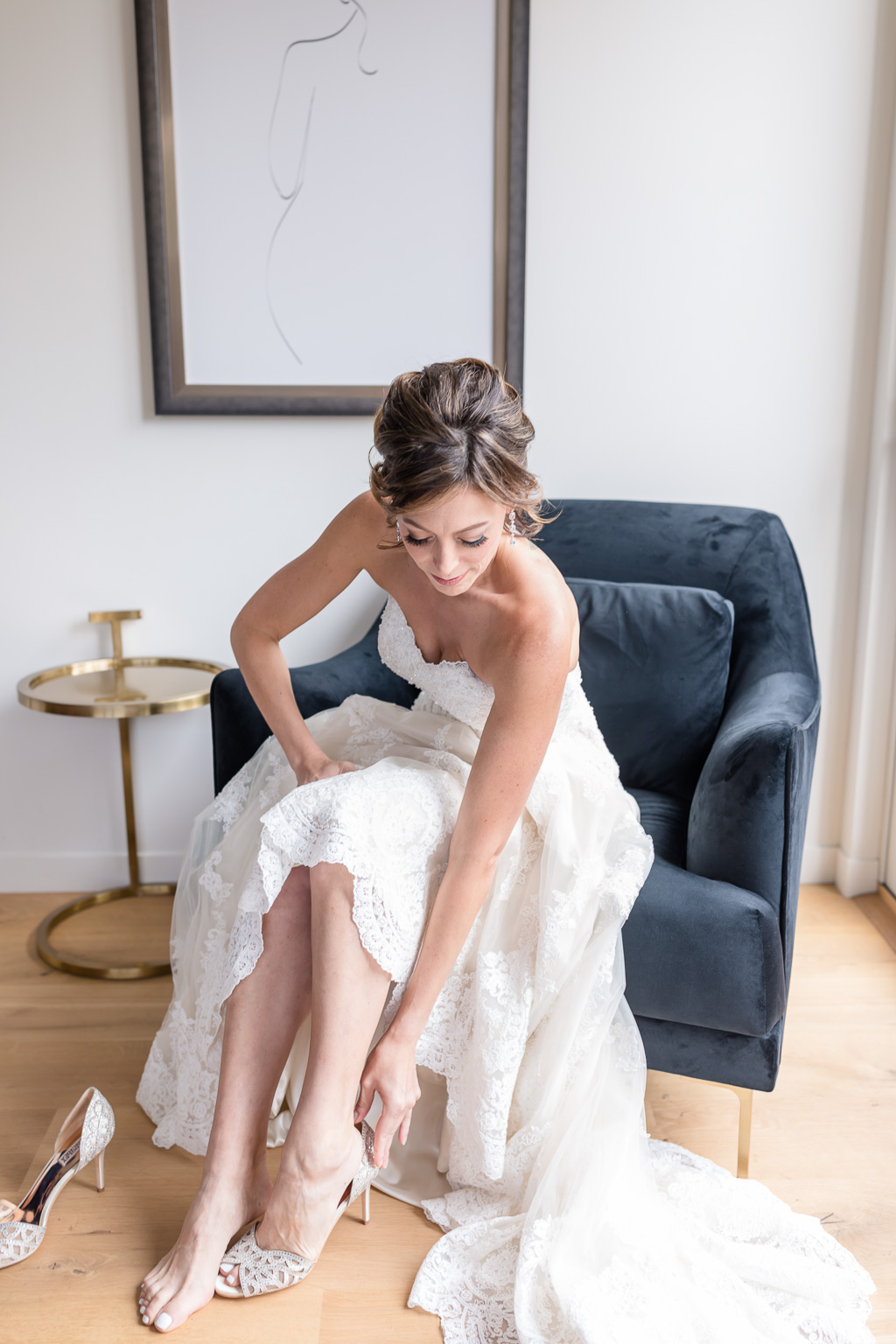 timeless elegant bride's getting ready moment - San Francisco wedding photographer