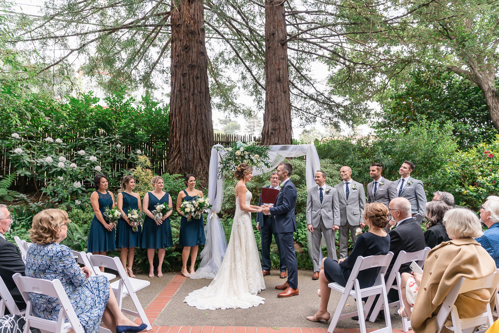 wedding ceremony at The Outdoor Art Club