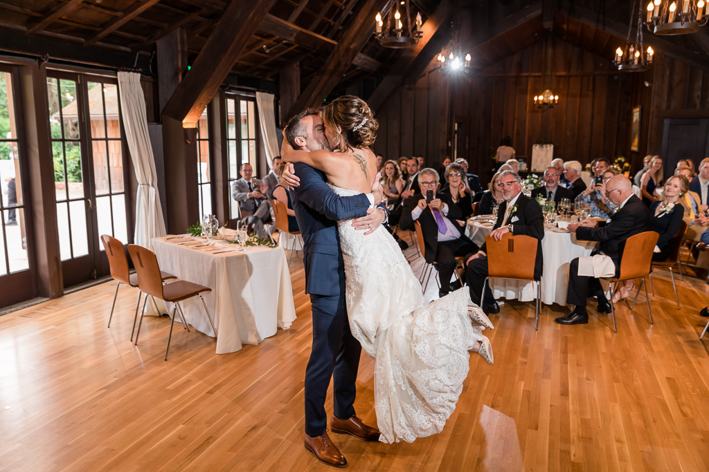 a life and kiss at the end of their first dance