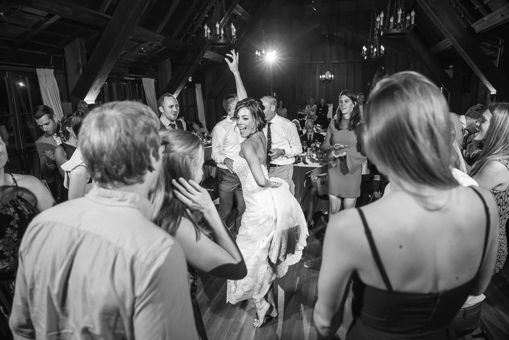 bride owning the entire dance floor throughout the night