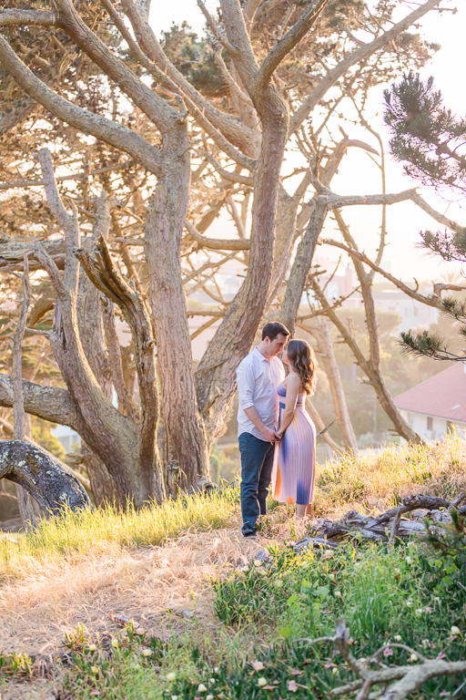 romantic couple portrait session in the Presidio
