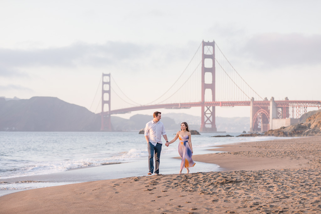 San Francisco Baker Beach engagement photo