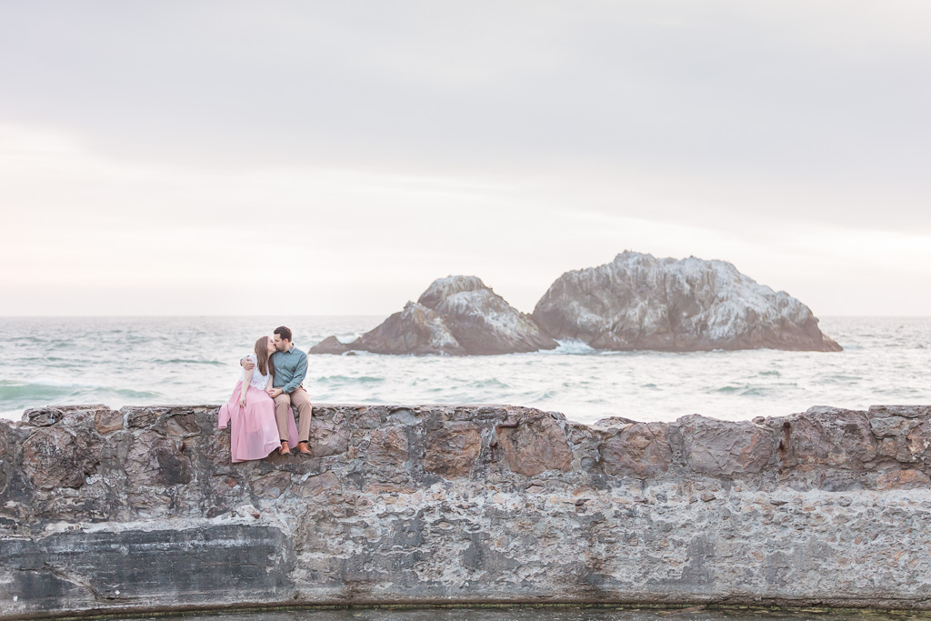 Sutro Baths is one of my favorite spots for engagement photos