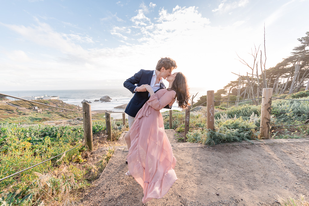 whimsical San Francisco engagement photo of the sweetest couple