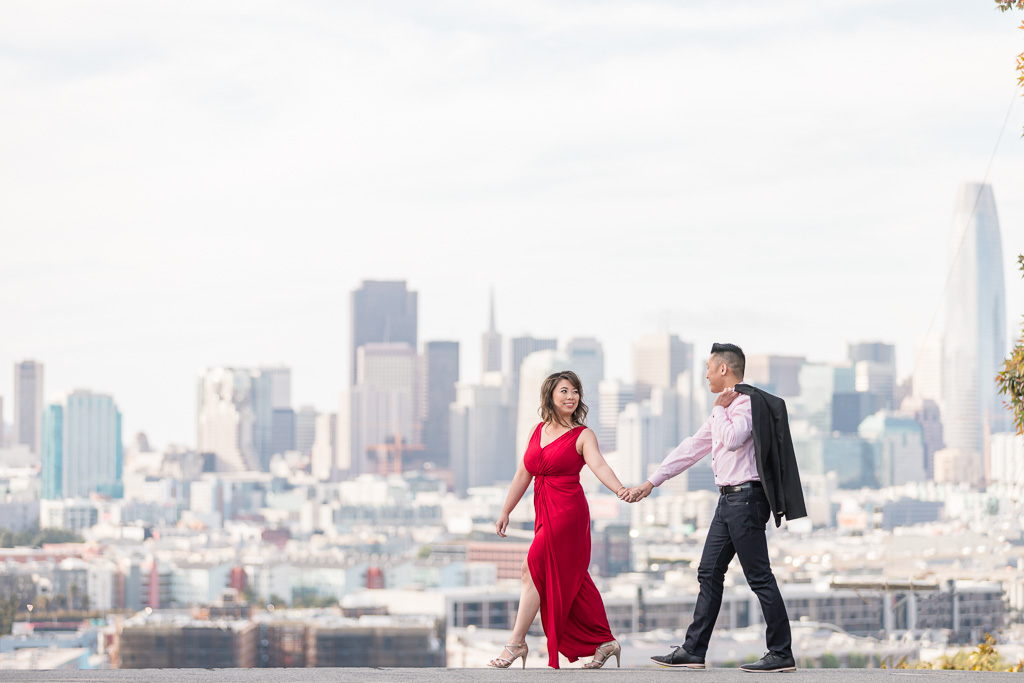 Potrero Hill engagement save the date picture