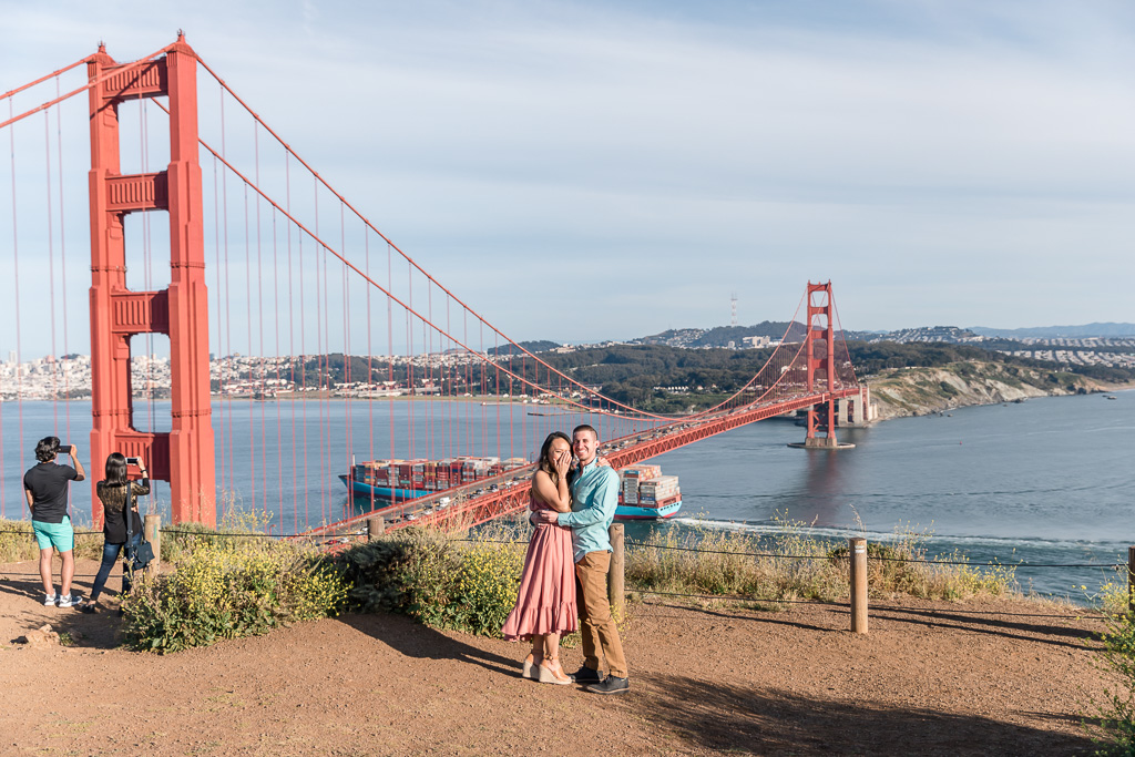 priceless reaction when she realized we were there to take photos of this surprise proposal