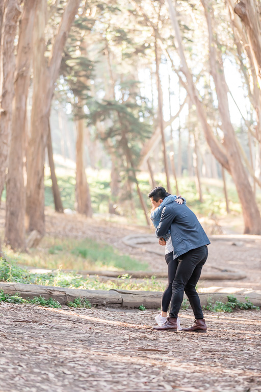 they are engaged in the Presidio woods
