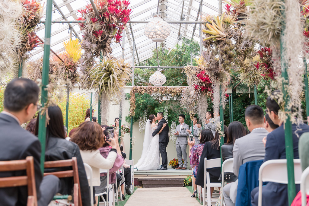gorgeous wedding in a lavish greenhouse in Pacifica