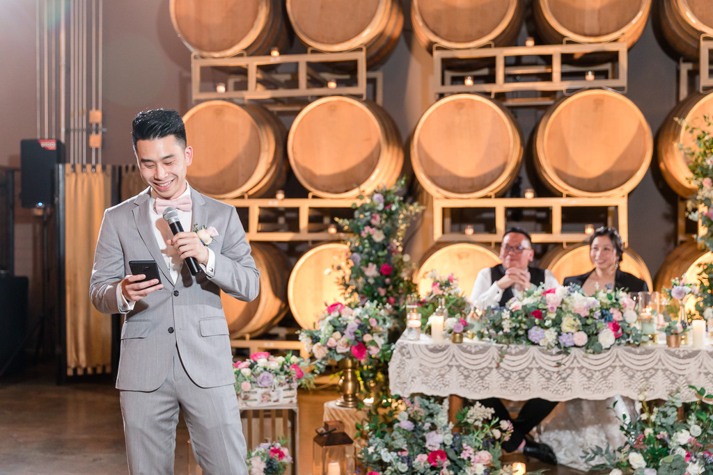 best man giving a toast at Domenico