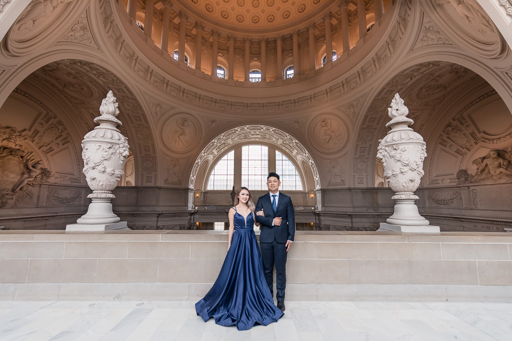 City Hall is San Francisco's finest landmark for wedding and engagement photos