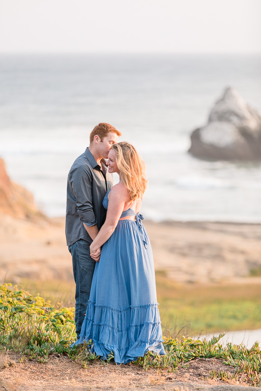 sunset engagement portrait session in Lands End