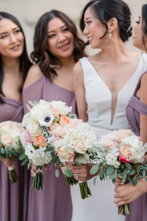 bride tribe and their bouquets
