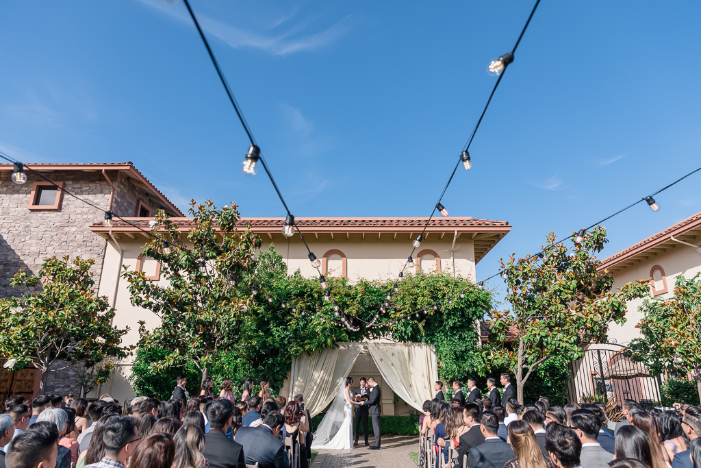 Casa Real outdoor ceremony in the courtyard