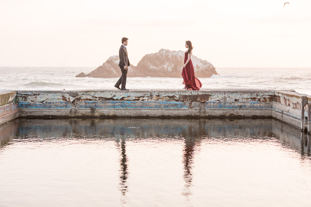 San Francisco iconic spot for engagement photos