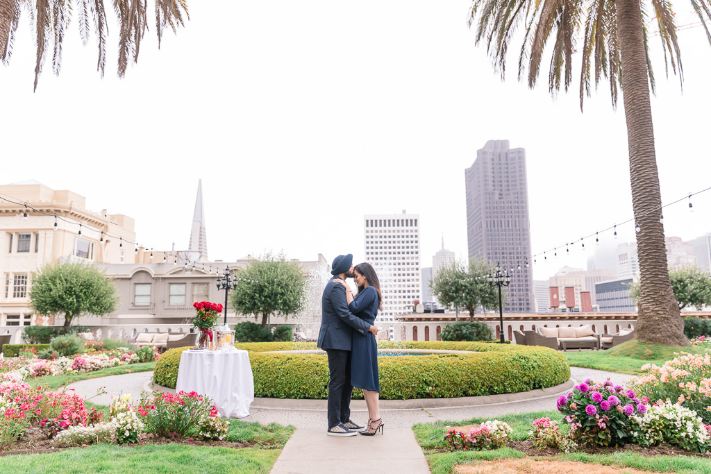 private proposal at San Francisco luxury hotel