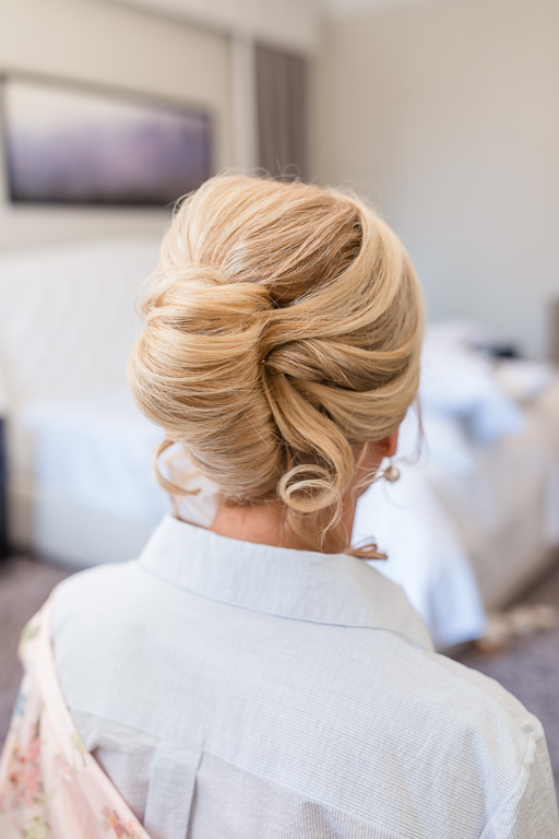 an elegant updo for mother of the bride