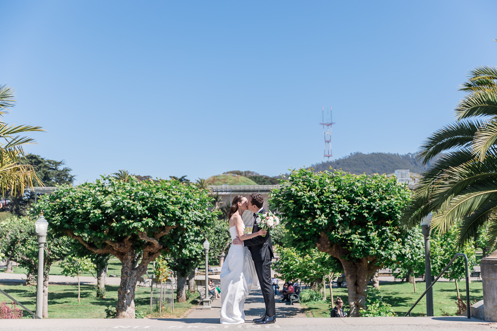 Golden Gate Park wedding photo