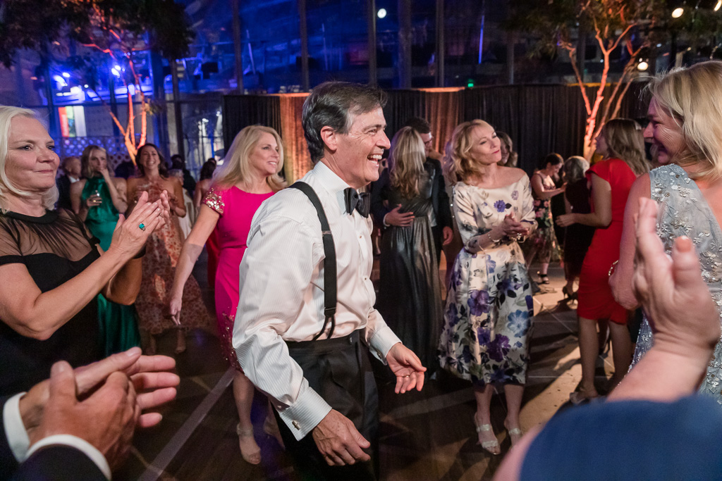 father of the bride having fun on the dance floor