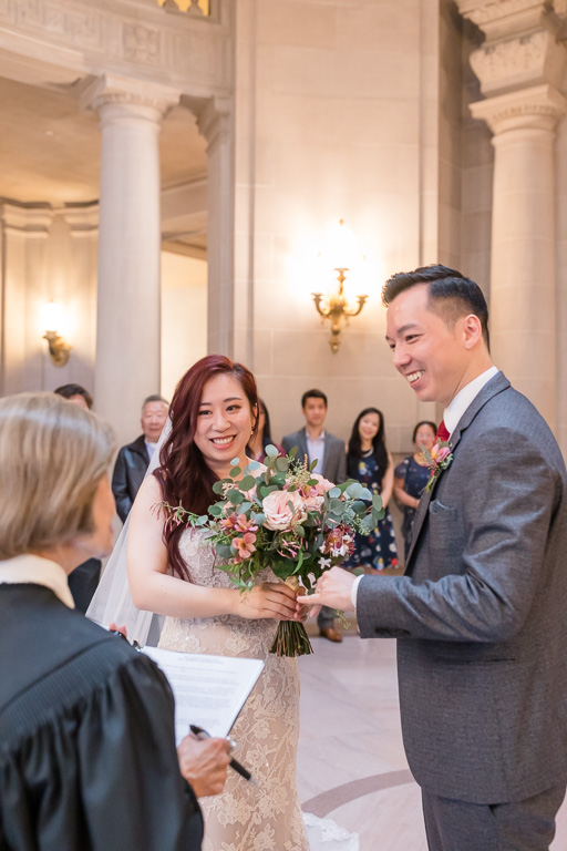 couple getting married at the SF city hall