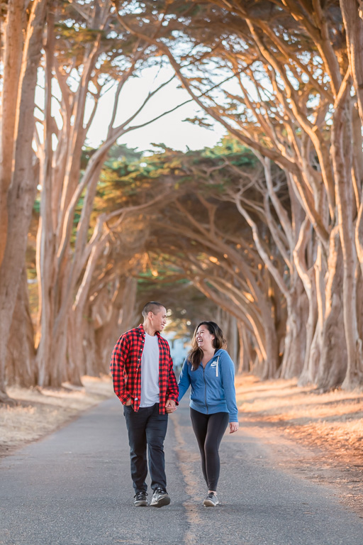 Point Reyes Cypress Tree Tunnel proposal and engagement photos