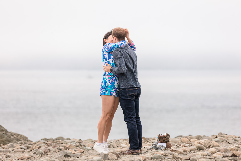 they are engaged by the ocean