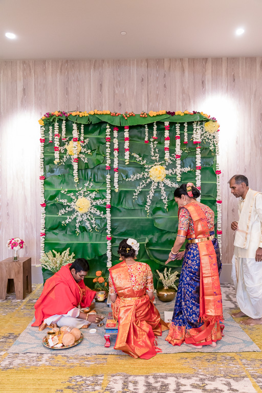 Puja with the Hindu priest