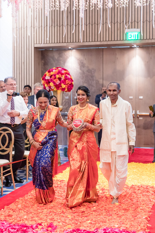 bride's processional for the Hindu ceremony