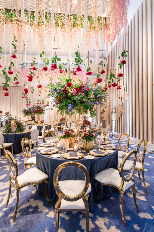 luxurious centerpieces and floral arrangement for this Bay Area wedding