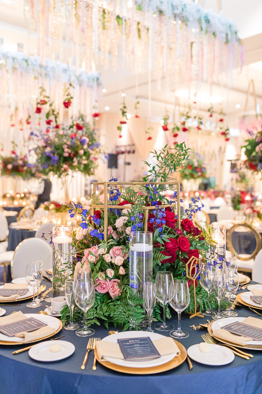 marvelous centerpieces bring the whole reception room alive