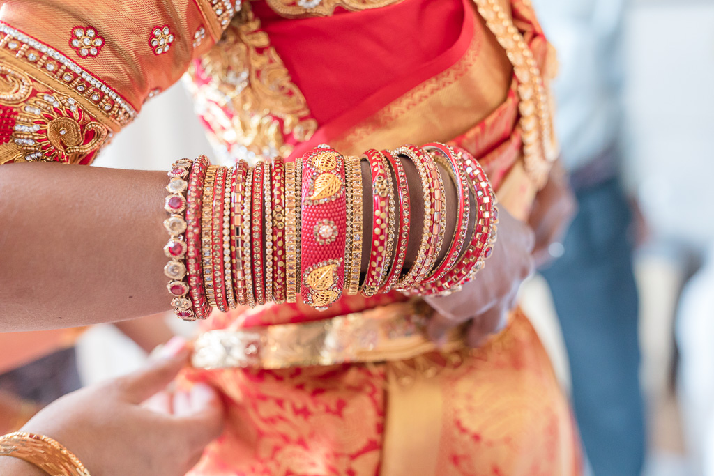 vibrant colors on an Indian wedding celebration