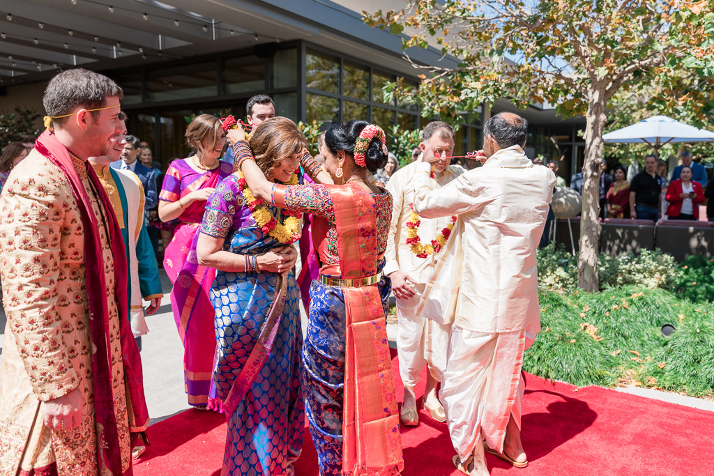 bride's family welcoming the groom's family