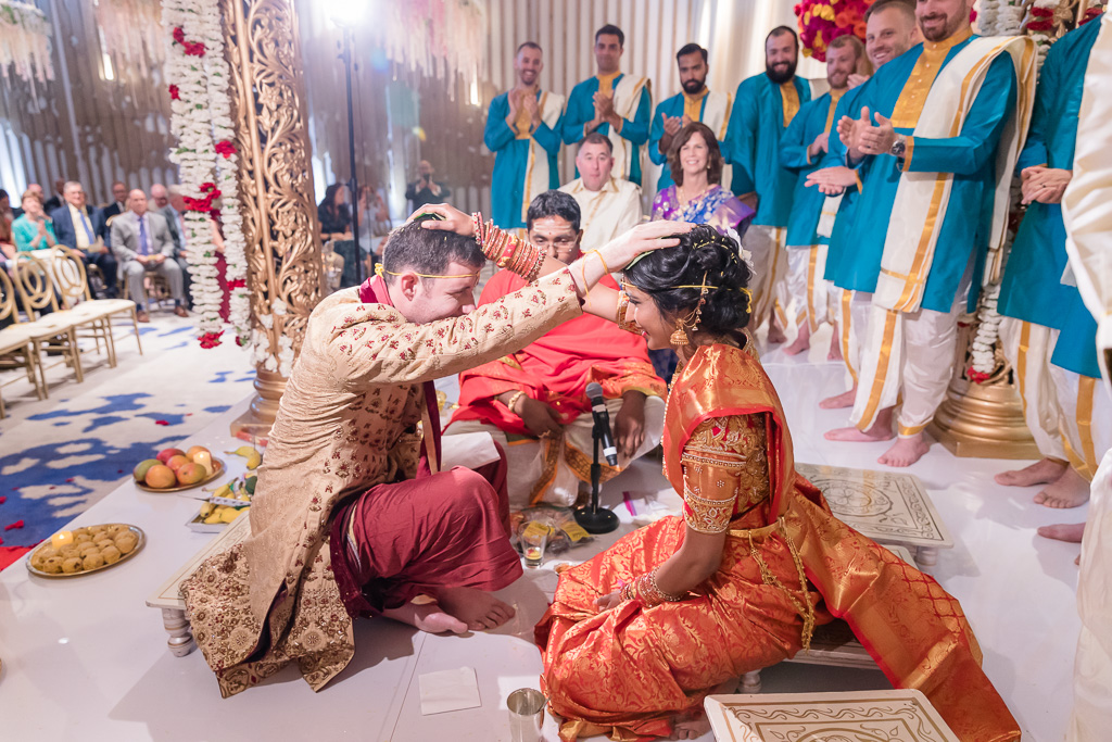 seeing each other for the Hindu ceremony