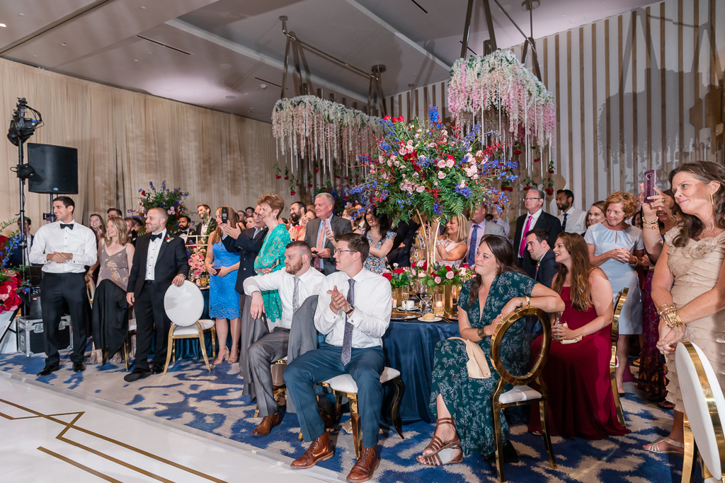 wedding guests reactions to the first dance