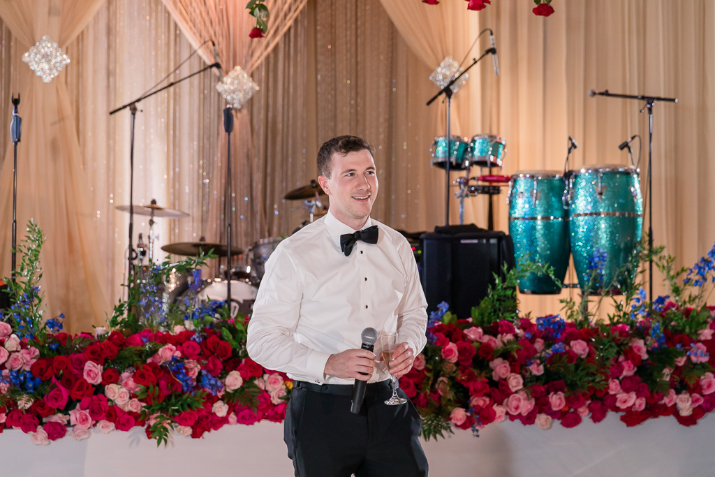 brother of the groom giving a speech