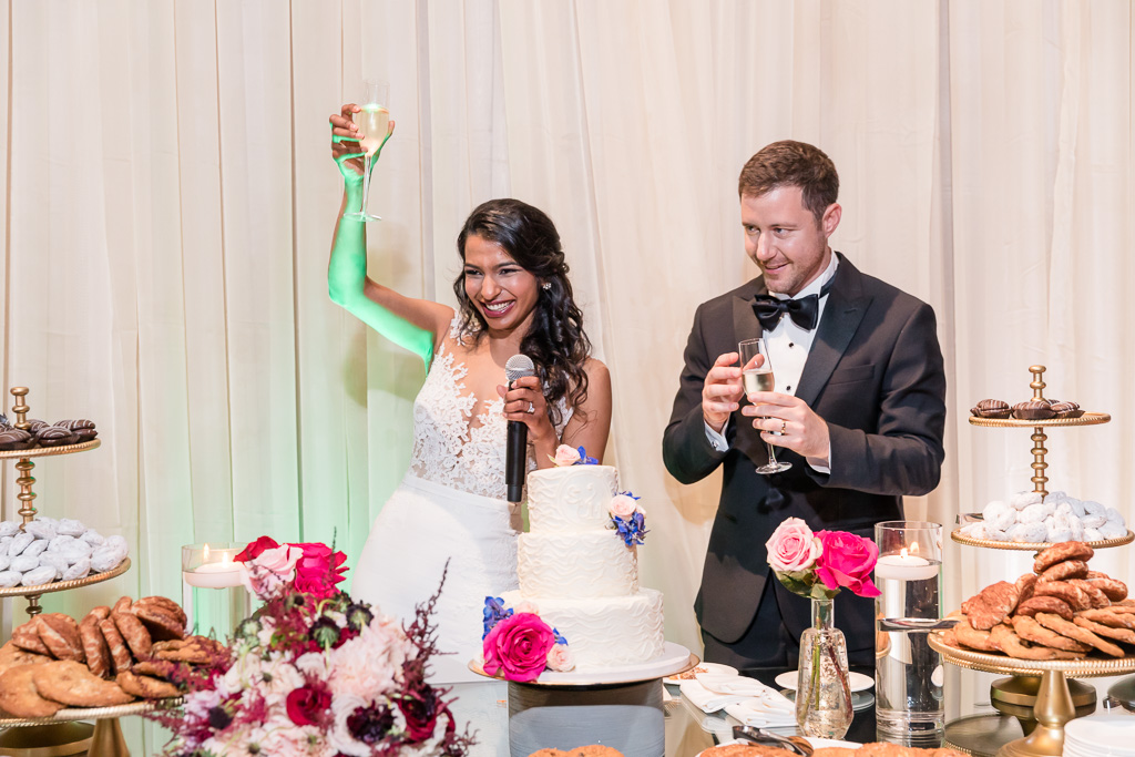 a thank you toast from the newlyweds