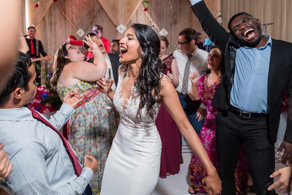 bride dancing at the center of the stage